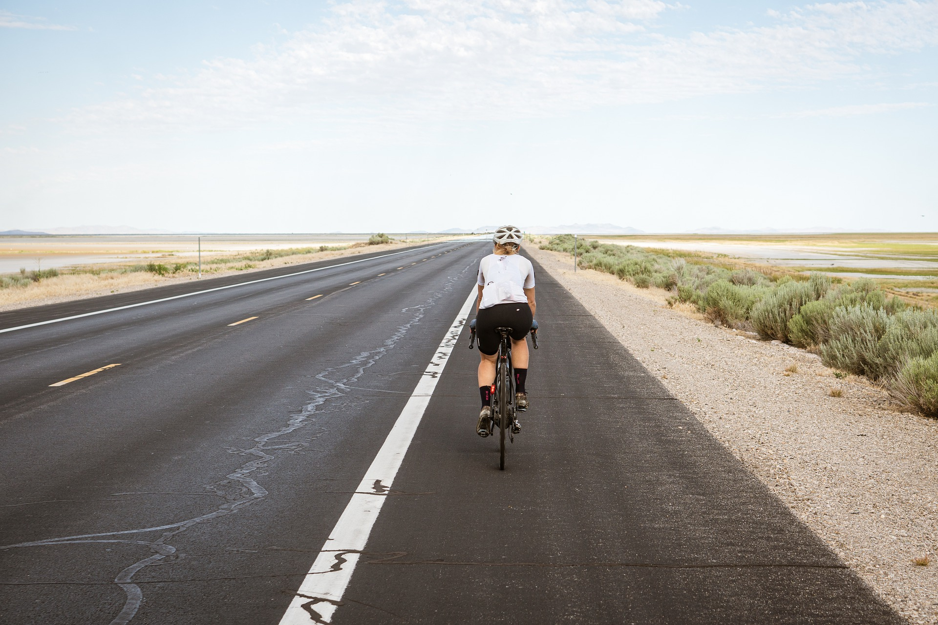 Fahrradfahrer auf Mallorca